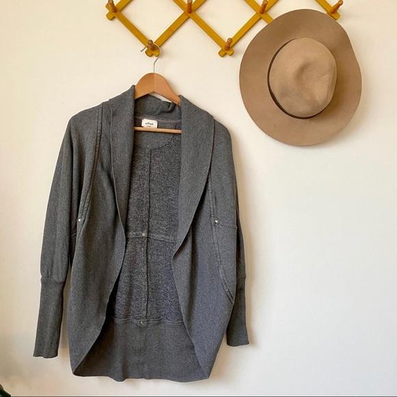 Aritzia   grey Diderot sweater long cardigan